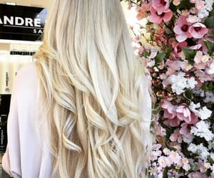 blonde, hair, and pretty image