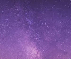 sky, purple, and galaxy image