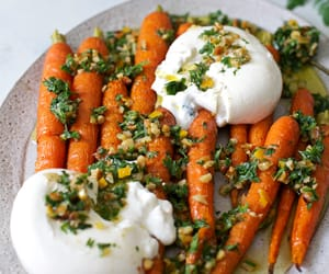 carrot, nuts, and salad image