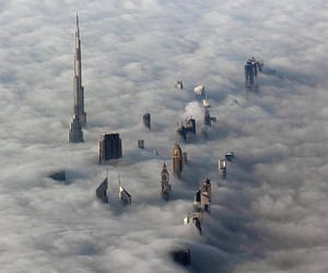 clouds, Dubai, and travel image