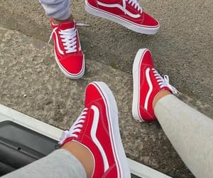 fashion, red, and sneakers image