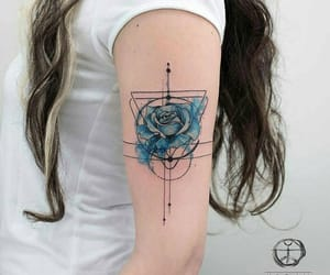 tattoo, blue, and art image