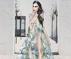 fashion, fashionillustration, and sketch image