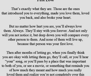 love, quotes, and first love image