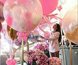 pink, birthday, and balloons image