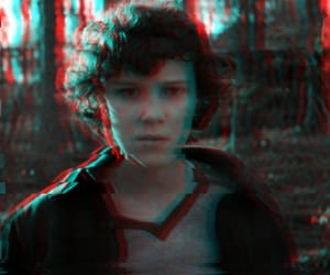 eleven, glitch, and stranger things image