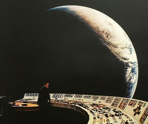 moon, space, and vintage image