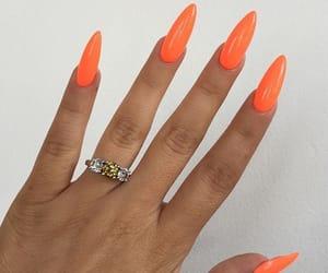 nails, beauty, and orange image