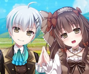 anime girl, couple, and cute image