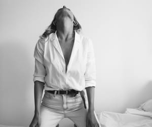 black and white, clothes, and model image