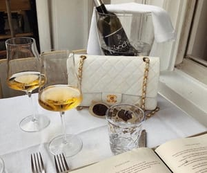 drink, chanel, and wine image