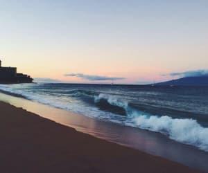beach, nature, and sand image