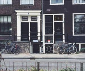 amsterdam, architecture, and bikes image