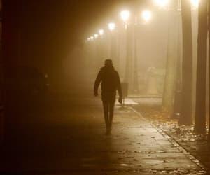 alone, man, and night image