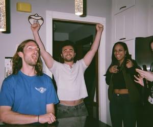 arm wrestling, college, and dark image