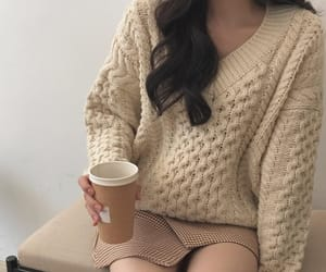 beige, girl, and outfit image