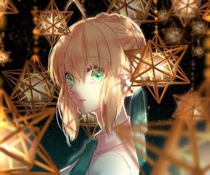 anime, anime girl, and green eyes image