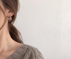 earrings, girl, and hair image