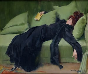 art, painting, and ramon casas image