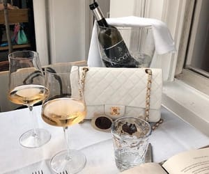 chanel, drink, and white image