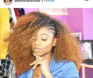 color, crochet, and hairstyle image