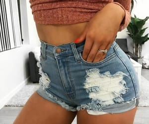 chic, girl, and shorts image