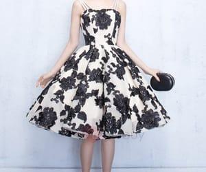 floral dress, formal, and Full Skirt image