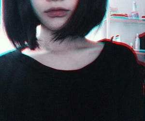 ulzzang, grunge, and black image