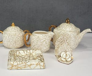 etsy, mid century, and gold gilt image