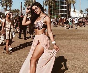 bra, skirt, and coachella image