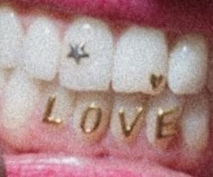 love, aesthetic, and teeth image
