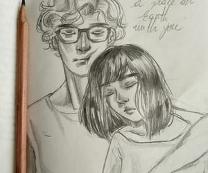 couple, drawing, and fluffy image