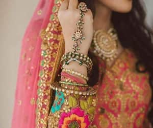 bride, dulhan, and indian image