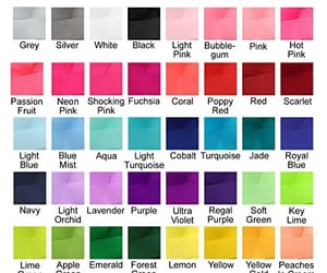 colors, names, and palette image