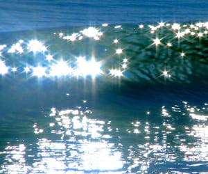 waves, blue, and photography image