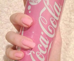 coca, pink, and rose image