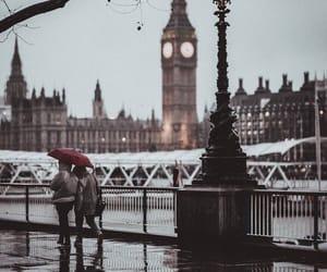 rain, london, and street image