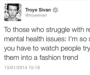 troye sivan, depression, and sad image
