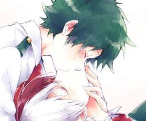 anime, kiss, and todoroki shouto image