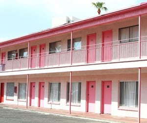 motel, pink, and summer image