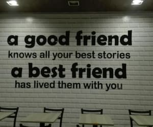 background, quote, and best friend image