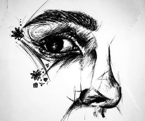 art, black and white, and sketch image