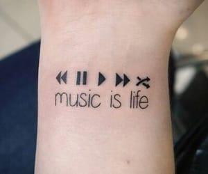 music, tatoo, and tattoo image
