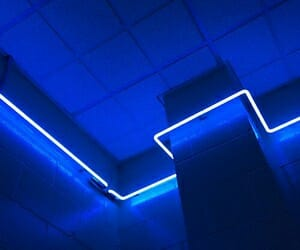aesthetic, blue, and lights image
