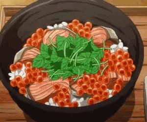 anime, japanese food, and cartoon image