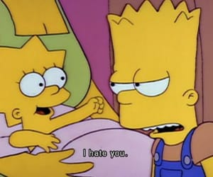 simpsons, bart, and hate image