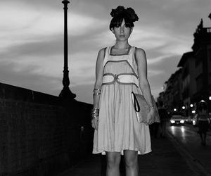 black & white, dress, and summer image