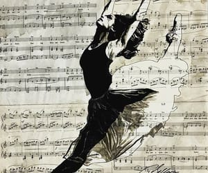 music in my arms and ballerina music art image