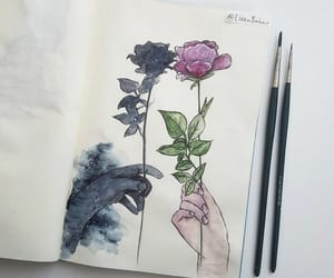 art, flowers, and beautiful image