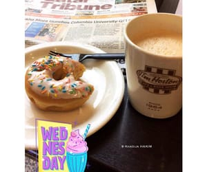 coffee, donut, and snap image